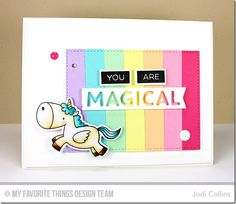 Magical Unicorns Stamp Set and Die-namics, Label Maker Love Stamp Set, Magical Memories Die-namics, Jumbo Dot Cover-Up Die-namics, Label Tape Die-namics, Stitched Rectangle STAX Die-namics, Blueprints 2 Die-namics, Blueprints 13 Die-namics - Jodi Collins  #mftstamps