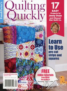 You don't want to miss this! Quilting Quickly Bookazine - Summer 2013 - Magazine from Jenny Doan and Fons & Porter
