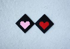 DIY Hama Bead Coasters for Valentines Day - Morning Creativity