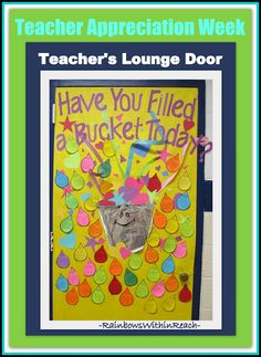 Teacher Appreciation week... Have people fill out rain drops w/ words of thanks, appreciation and gratitude.