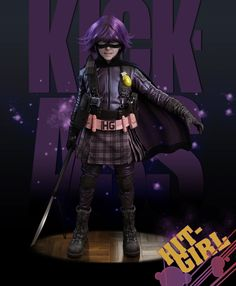 Hit Girl. zbrush- possible costume?