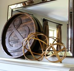 West Elm Inspired DIY Wooden Spheres | Hymns and Verses - Perfect mantel decor