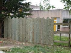 palissade verticale en bois