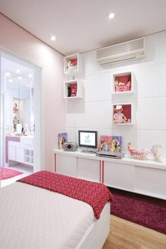 Awesome Quarto Decorado Infantil Feminino that you must know, Youre in good company if you?re looking for Quarto Decorado Infantil Feminino Trendy Bedroom, Girls Bedroom, Bedroom Decor, Bedrooms, Blue Design, Kids Furniture, Girl Room, Gallery Wall, Interior Design