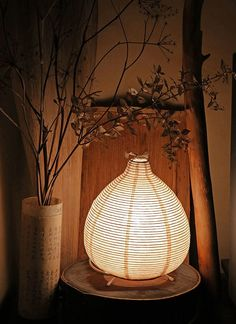 Wabi sabi, this culture is amazing ... learning to see the beauty in imperfection ... ♥ paper lamp
