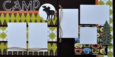 camp scrapbook pages - Google Search