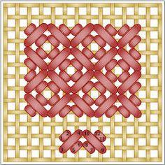 Reversed Mosaic Stitch
