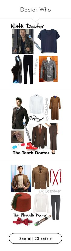 """Doctor Who"" by cosplay-er ❤ liked on Polyvore featuring Monki, High Tech, Jil Sander, U-boat, BOSS Black, L.P., Converse, Lanvin, John Lewis and MaxMara"
