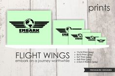 PRINTS - FLIGHT WINGS: embark on a journey worthwhile by freshairedesigns on Etsy