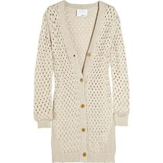 3.1 Phillip Lim Basketweave cotton cardigan ($173) found on Polyvore