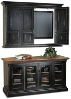 Indoor , Unique Idea to Place Wall Mounted TV : Creative Wall Mounted Tv In Wall Cabinet