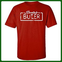 Santa's Butler Christmas - Adult Shirt Xl Red - Holiday and seasonal shirts (*Amazon Partner-Link)