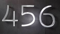 Modern house numbers set of 3 aluminum metal modern by AluminunX