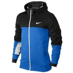 Nike XD Full Zip Hoodie - Men's - Basketball - Clothing - White/Obsidian/Photo Blue