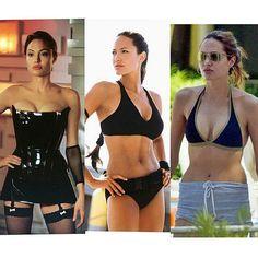 Angelina Jolie (L-R) - in Mr. & Mrs. Smith (2005), Lara Croft Tomb Raider: The Cradle of Life (2003)