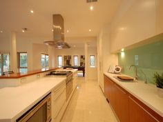 light green glass splashback