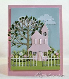 Country Home—Memory Box and Poppy Stamps dies