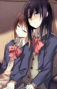 Lesbian Art, Anime Lindo, Online Manga, Anime Best Friends, Yuri Anime, Cartoon Icons, Cute Anime Wallpaper, Manga Reader, Kawaii Anime Girl