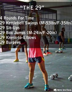 The 29. 4 rounds for time