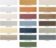 LP SmartSide colors