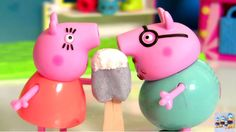 NEW Peppa Pig Play Doh Episodes! Peppa Pig Ice Cream PlayDough Toys Set ...