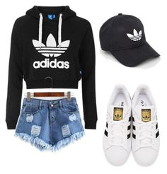"""""""Untitled #27"""" by a-basketball-h on Polyvore featuring Topshop, adidas Originals and adidas"""