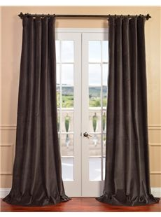 Half Price Drapes Iron Grey Vintage Cotton Velvet Curtain HalfPriceDrapes CottonVelvetCurtain