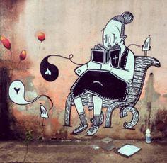 ALEX SENNA http://www.widewalls.ch/artist/alex-senna/ #street #art