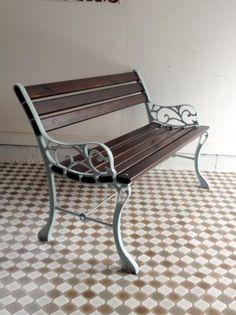 イギリスアンティーク家具 ガーデンベンチ/アイアン G2
