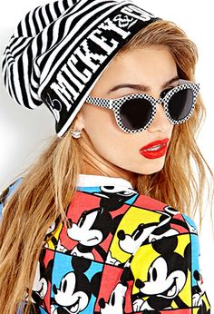 Yes to the beanie...NOOOOOO to the shirt  Standout Stripes Mickey Mouse Beanie | FOREVER21 - 2000065915