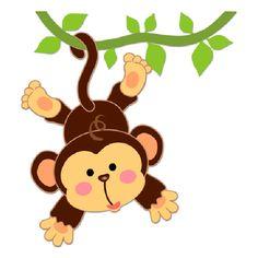 Vinilos Infantiles: Mono colgado en la liana