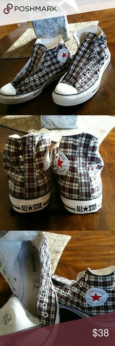 Converse Chuck Taylor Converse Chuck Taylor high top sneakers. Needs laces. Great condition. Converse  Shoes Sneakers