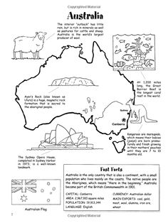 Around the World Coloring Book (Dover History Coloring Book) Geography Ideas Geography Activities, Geography For Kids, Geography Lessons, Teaching Geography, World Geography, Teaching Kids, Geography Interactive Notebook, Australia For Kids, Australia School