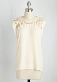 Creative Mixer Top in Parchment. Mingle with other inspiring minds looking innovative in this cream top! #cream #modcloth