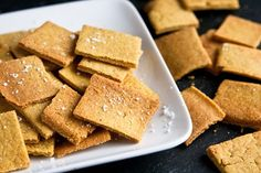 Savory Socca Crackers - Made with chickpea flour!