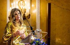 Koningin reikt Appeltjes van Oranje uit (fotoserie) - Koningin Maxima houdt een toespraak tijdens de uitreiking van de Appeltjes van Oranje in Paleis Noordeinde. Beeld ANP