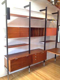 linden midcentury wall desk shelf set with storage desk shelves mid century and desks