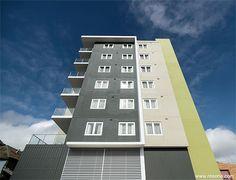 Quest Apartments Toowoomba Exterior Paint Color Combinations, Exterior Color Schemes, Paint Color Schemes, Exterior House Colors, Exterior Design, Quest Apartments, Living Room Decor Styles, Colour Architecture, Restaurant Interior Design