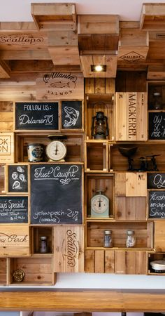 Wooden wall #blackboard and wood
