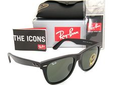 ebae270325 Ray-Ban Original Wayfarer Asian Fit RB 2140f 901s 54mm Matte Black   Green  G-15 Large. Cheapest Online Shopping