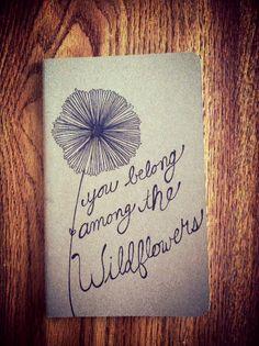 Tom Petty Wildflowers Moleskine Notebook by SweetHarte on Etsy, $13.00