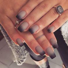beauty nails mani manicure autumn stiletto uñas polish nail glitter fashion fall black matte ombre black Nail Design, Nail Art, Nail Salon, Irvine, Newport Beach