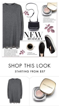 """"""".Sweater dress."""" by ladydzsen ❤ liked on Polyvore featuring R/R Studio, Dolce&Gabbana and The Row"""