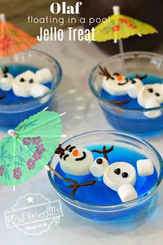 Float this cute Olaf in a pool of blue jello for your next Frozen Themed . Float this cute Olaf in a pool of blue jello for your next Frozen Themed … – FUN FOOD for KID Olaf Party, Frozen Themed Birthday Party, Birthday Treats, Birthday Party Themes, Birthday Fun, Food For Birthday Parties, Olaf Summer Party, Birthday Recipes, Olaf In Summer