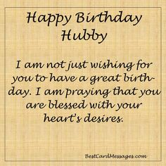 Husband Birthday Wishes Archives - Happy Birthday Wishes for Husband Hubby Birthday Quotes, Happy Birthday Love Quotes, Birthday Message For Husband, Birthday Wish For Husband, Happy Birthday Sister, Happy Birthday Cards, Happy Quotes, Happy Husband, Birthday Greetings