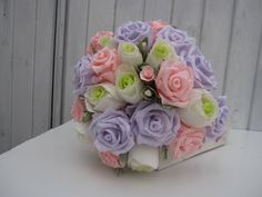 BRIDE WEDDING BOUQUET paper flowers by moniaflowers on Etsy