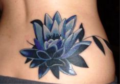 Lower Back Lotus Tattoo #lowerbacktattoos