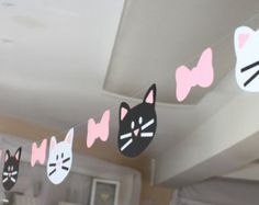 Cat Garland cats kitten kitty banner - Edit Listing - Etsy