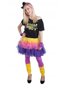 Totally 80s Black Outfit Plus Size 80s Costumes, Best 80s Costumes, 60s Costume, Disco Costume, Celebrity Halloween Costumes, Easy Costumes, Costumes For Women, Cyndi Lauper Costume, Purple Tights