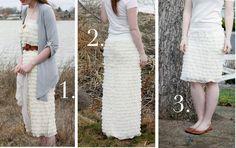 3-Way Ruffle Skirt/Dress Tutorial